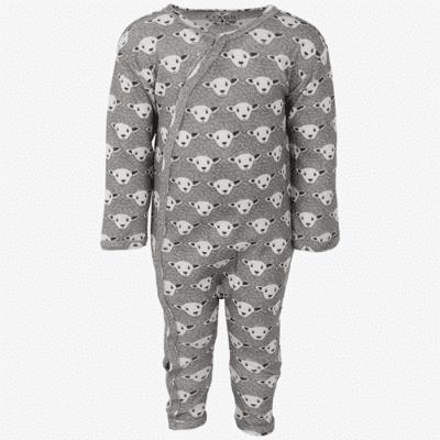 Fixoni Joy natdragt/heldragt med uld og silke med får - Off White - Børnetøj - Fixoni