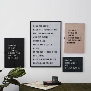 Design Letters Bogstaver Til Letter Board - Hvid