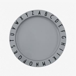 Design Letters Abc Tritan Tallerken - Grey