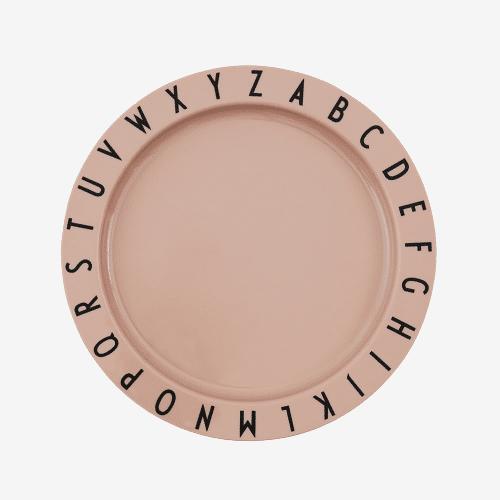 Design Letters Abc Tritan Tallerken - Nude