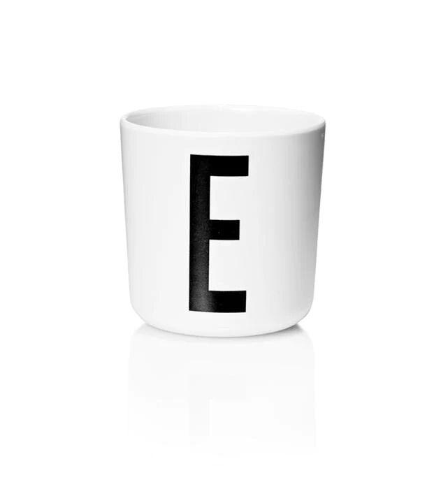 Design Letters Melamin Kop Med Bogstav - E