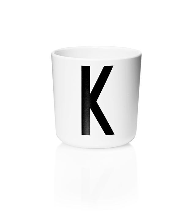 Design Letters Melamin Kop Med Bogstav - K