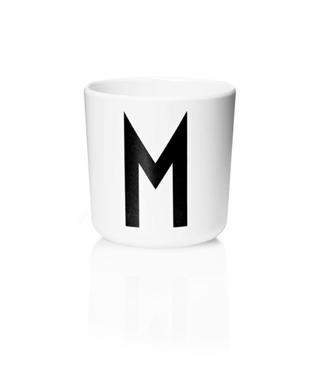 Design Letters Melamin Kop Med Bogstav - M