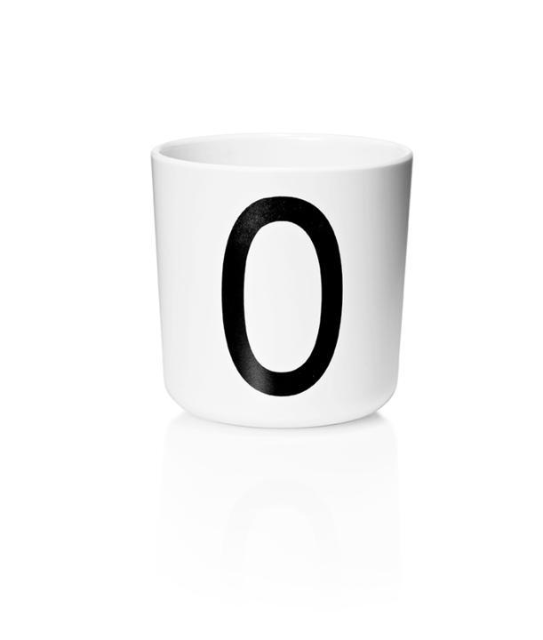 Design Letters Melamin Kop Med Bogstav - O