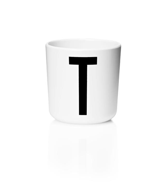 Design Letters Melamin Kop Med Bogstav - T