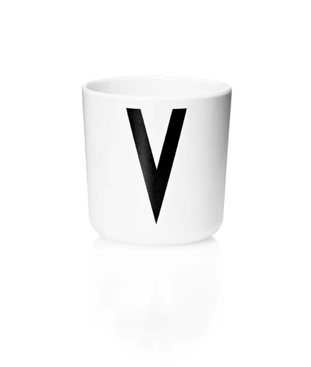 Design Letters Melamin Kop Med Bogstav - V