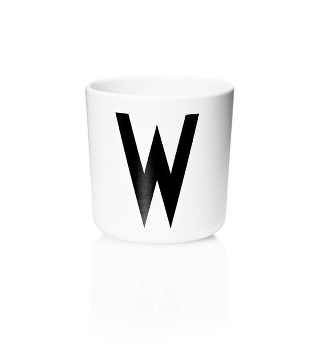 Design Letters Melamin Kop Med Bogstav - W