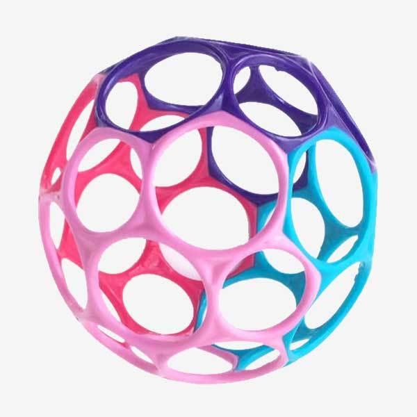 Oball Klassisk - Motorisk Bold - Lyserød/pink/lilla/blå