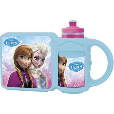 Disney Frozen Large Multi-Purpose Bottle + Lunchbox - Baby Spisetid - Disney
