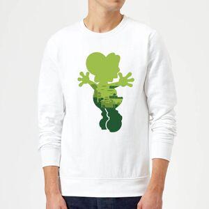 Nintendo Super Mario Yoshi Silhouette Sweatshirt - White - XL - White