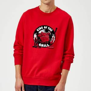 BBQ/Beer King Of The Grill Sweatshirt - Red - M - Red