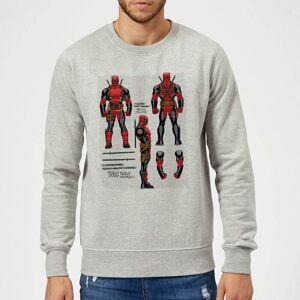 Marvel Deadpool Action Figure Plans Sweatshirt - Grey - L - Grey