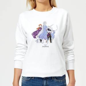 Disney Frozen 2 Group Shot Women's Sweatshirt - White - XXL - White