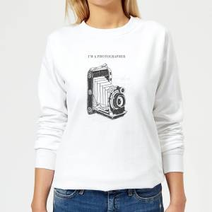 By IWOOT Photography Vintage Scribble Women's Sweatshirt - White - XS - White