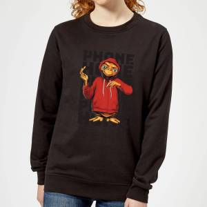 E.T. the Extra-Terrestrial ET Phone Home Stylised Women's Sweatshirt - Black - XL - Black