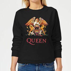 Queen Crest Women's Sweatshirt - Black - XS - Black