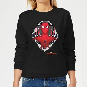 Marvel Spider-Man Far From Home Web Tech Badge Women's Sweatshirt - Black - XL - Black