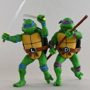 NECA Teenage Mutant Ninja Turtles Cartoon Series Leonardo and Donatello Action Figures 2 Pack