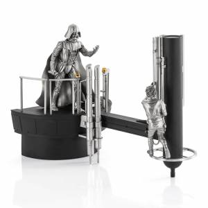 Royal Selangor Star Wars Luke vs. Darth Vader Limited Edition Pewter Diorama 33.5cm (500 Pieces Worldwide)
