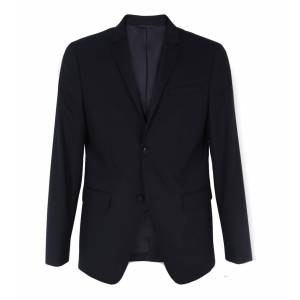Calvin Fitted Wool Stretch Blazer Sort