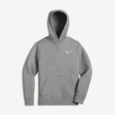 Nike Sportswear Club Fleece-pullover-hættetrøje til store børn - Grå - Børnetøj - Array