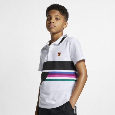 NikeCourt Advantage-tennispolo til store børn (drenge) - White - Børnetøj - Array