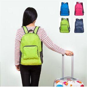 Newchic Nylon Folding Backpack Lightweight Casual Sports Travel Shoulder Bag
