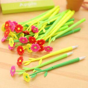 Newchic 0.38mm Cute Flower Soft Silicone Gel Pen