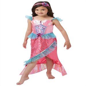 Havfrue Prinsesse Deluxe Udklædning(Str. 128/L)