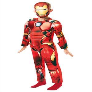 Iron Man Deluxe Udklædningstøj (3-9 år)(Str. 140/9-10)