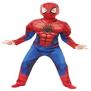 Spiderman Deluxe Udklædningstøj (3-9 år)(Str. 116/M)