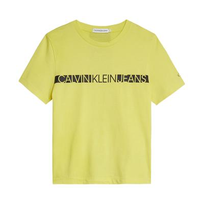 Calvin KLEIN HERO LOGO TEE 00447 ZIO (Frozen Lemon, 140) - Børnetøj - Calvin
