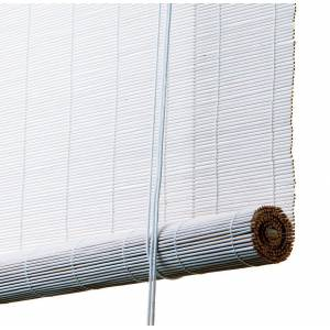 Color & Co Rullegardin i bambus - Hvid