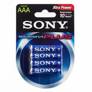 Sony Plus AAA LR03 1.5 Alkaline - 4 stk.