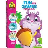 School Zone Fun and Games Preschool Activity Workbook by School Zone