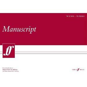 75-page A3 Manuscript Pad, 18-stave