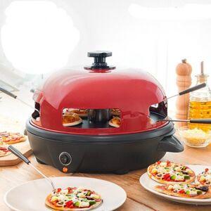 InnovaGoods Ovn til Mini Pizzaer med Opskriftsbog Presto! 700W Rød Sort