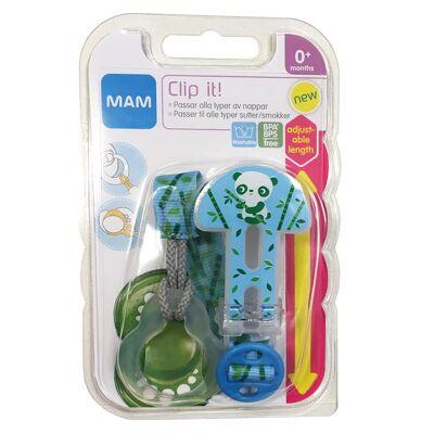 MAM Sutteholder Clip It Blå One Size - Baby Spisetid - MAM