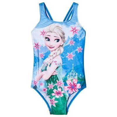 Disney Frozen Frozen Badedragt Blå 110/116 cm - Børnetøj - Disney