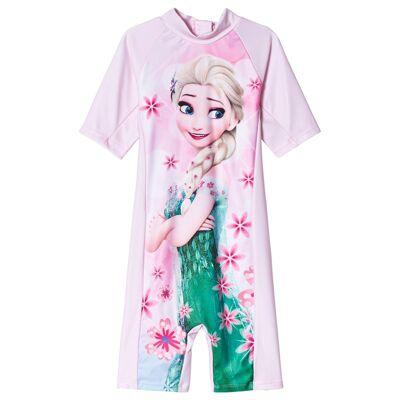 Disney Frozen Frozen UV-Dragt Lyserød 134/140 cm - Børnetøj - Disney