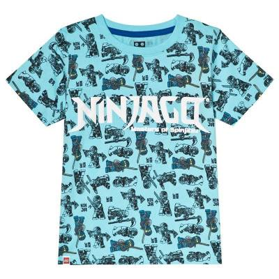 Lego Wear T-shirt Ninjago Turkis 104 cm - Børnetøj - Lego