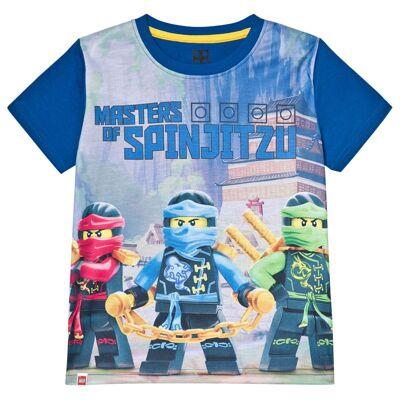 Lego Wear T-shirt Spinjitzu Blå 104 cm - Børnetøj - Lego
