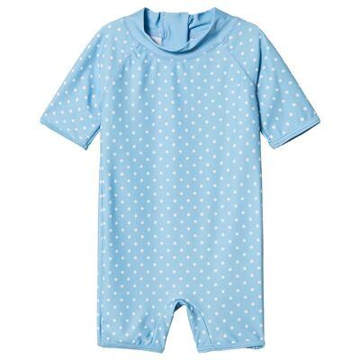 Kuling UV-Dragt Aruba Dots Blue 110/116 cm - Børnetøj - Kuling