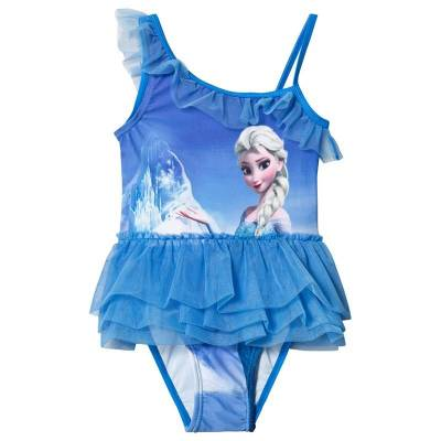 Disney Frozen Badedragt, Blue 92 cm - Børnetøj - Disney