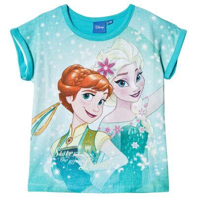 Disney Frozen Frost T-shirt Turkis 128 cm - Børnetøj - Disney