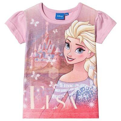 Disney Frozen Frost T-shirt Lyserød 98 cm - Børnetøj - Disney