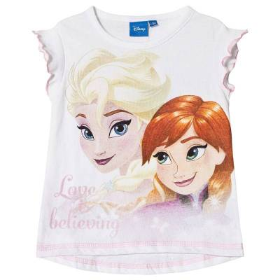 Disney Frozen Frost T-shirt Hvid 110 cm - Børnetøj - Disney