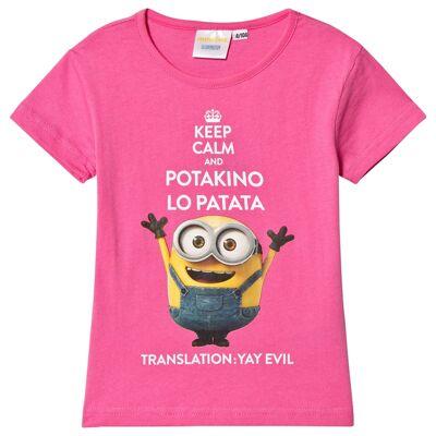 Minions Despicable Me, Top, Dark Pink 110 cm - Børnetøj - Minions