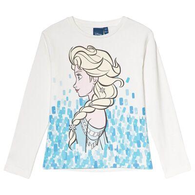 Disney Frozen Frost T-shirt Cream 10 år - Børnetøj - Disney