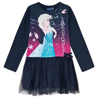 Disney Frozen Frost Kjole Mørkeblå 7 år - Børnetøj - Disney